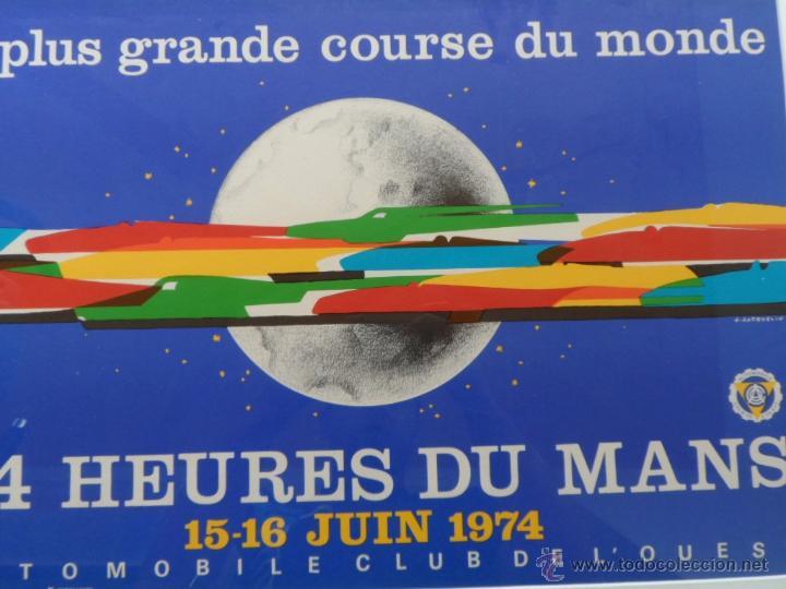 Cine: Póster original enmarcado de 24 Heures du Mans (24 Horas de Le Mans), A completo color, J. Jacquelin - Foto 4 - 42258426