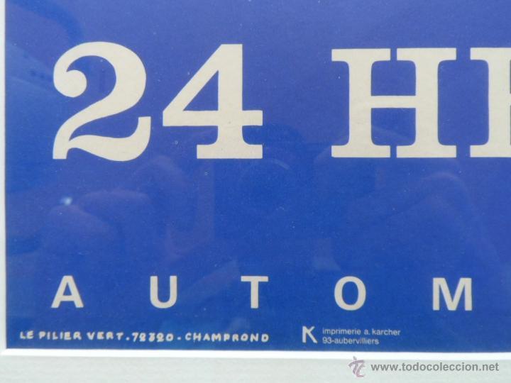 Cine: Póster original enmarcado de 24 Heures du Mans (24 Horas de Le Mans), A completo color, J. Jacquelin - Foto 5 - 42258426