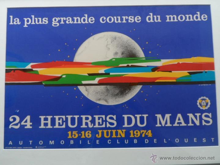 Cine: Póster original enmarcado de 24 Heures du Mans (24 Horas de Le Mans), A completo color, J. Jacquelin - Foto 7 - 42258426