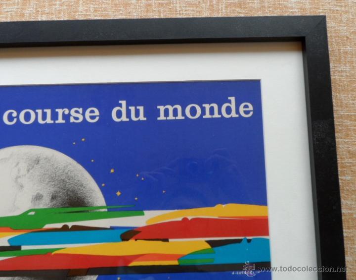 Cine: Póster original enmarcado de 24 Heures du Mans (24 Horas de Le Mans), A completo color, J. Jacquelin - Foto 8 - 42258426