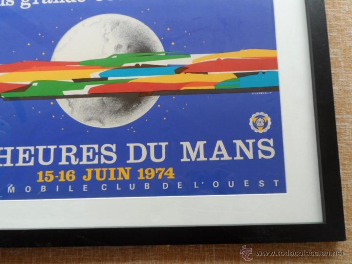 Cine: Póster original enmarcado de 24 Heures du Mans (24 Horas de Le Mans), A completo color, J. Jacquelin - Foto 9 - 42258426