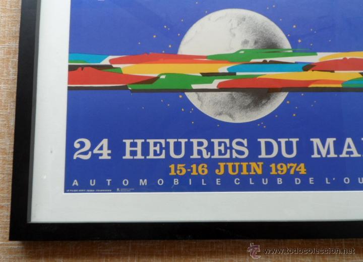 Cine: Póster original enmarcado de 24 Heures du Mans (24 Horas de Le Mans), A completo color, J. Jacquelin - Foto 10 - 42258426