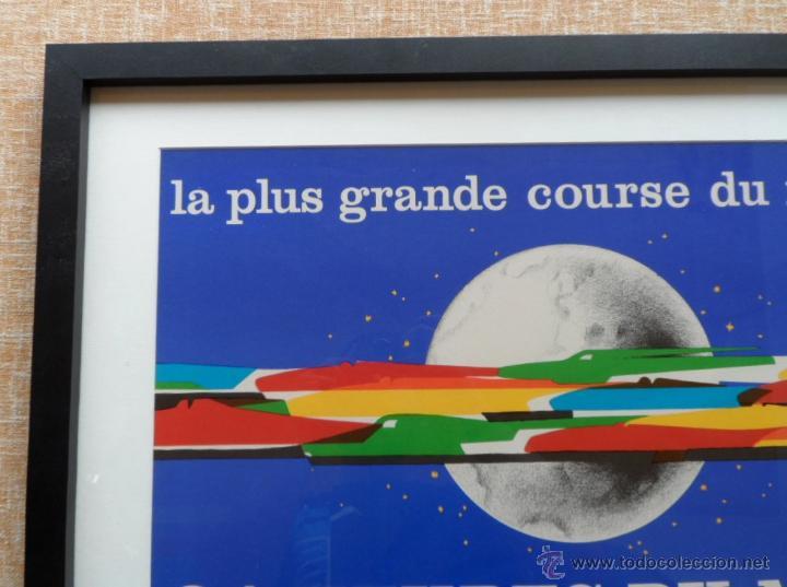 Cine: Póster original enmarcado de 24 Heures du Mans (24 Horas de Le Mans), A completo color, J. Jacquelin - Foto 11 - 42258426