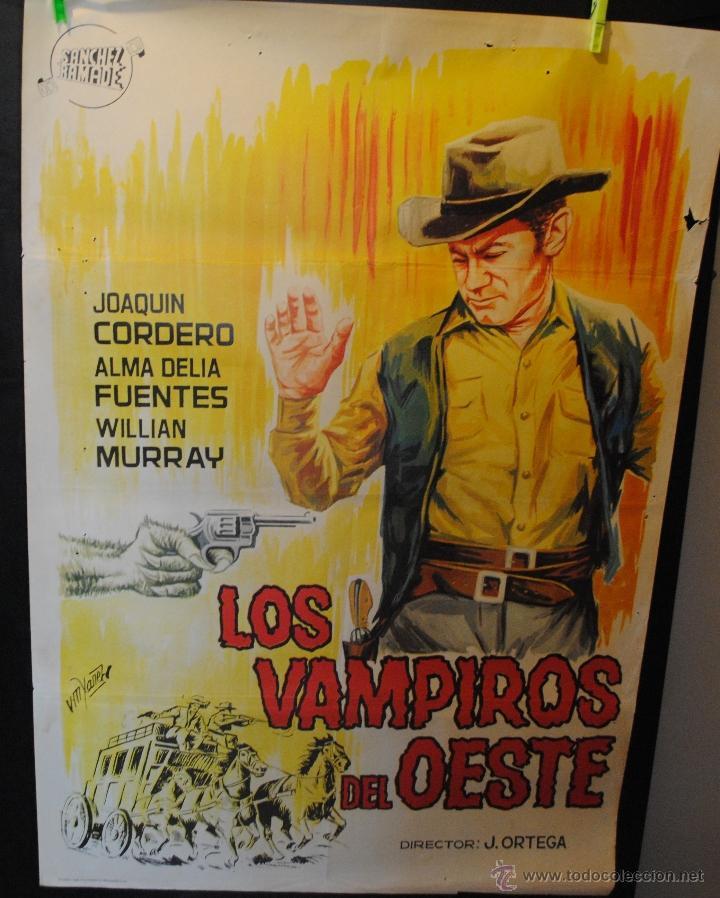 CARTEL DE CINE ORIGINAL DE LA PELÍCULA LOS VAMPIROS DEL OESTE, 70 POR 100CM (Cine - Posters y Carteles - Westerns)