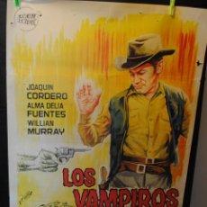 Cine: CARTEL DE CINE ORIGINAL DE LA PELÍCULA LOS VAMPIROS DEL OESTE, 70 POR 100CM. Lote 42258481