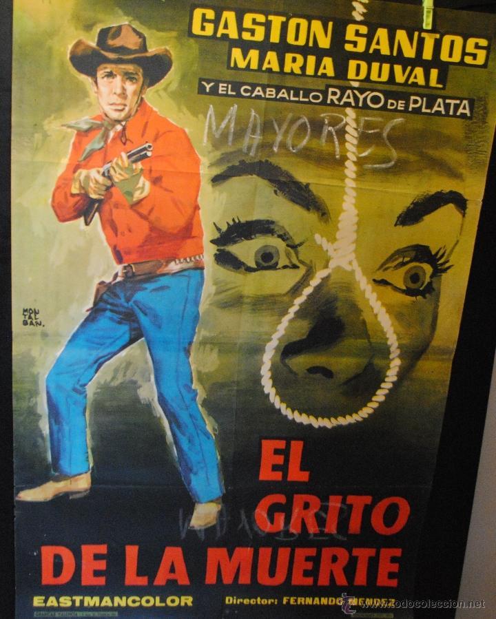 CARTEL DE CINE ORIGINAL DE LA PELÍCULA EL GRITO DE LA MUERTE, 70 POR 100CM (Cine - Posters y Carteles - Westerns)
