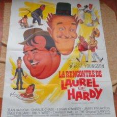 Cine: LA REENCONTRÉ DE LAUREL ET HARDY (THE FURTHER PERILS OF LAUREL AND HARDY) PÓSTER ORIGINAL, 1968. Lote 42265030