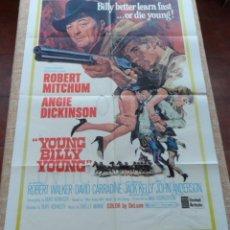 Cine: YOUNG BILLY YOUNG (PISTOLERO) PÓSTER ORIGINAL DE LA PELÍCULA, DOBLADO, 1969, ROBERT MICHUM, ANGIE. Lote 42269962