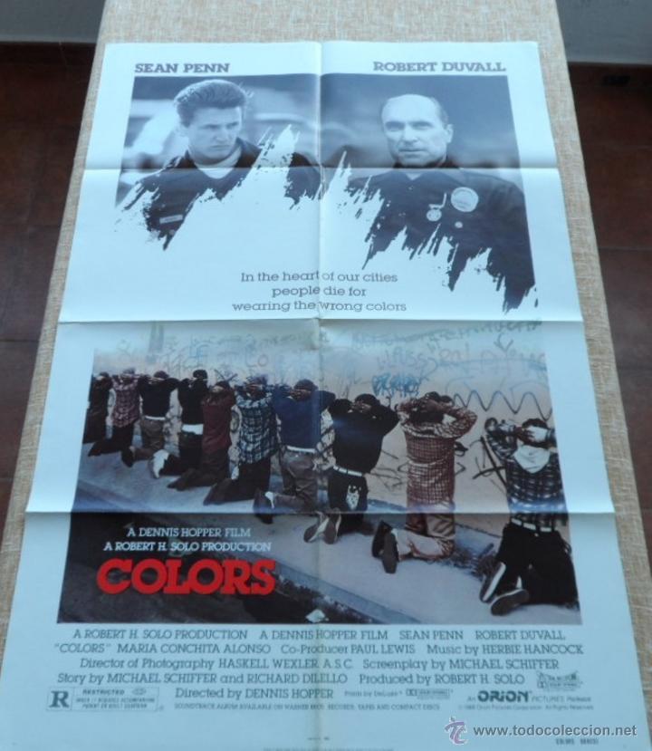 COLORS (COLORES) PÓSTER ORIGINAL DE LA PELÍCULA, DOBLADO, 1988, SEAN PENN, ROBERT DUVALL (Cine- Posters y Carteles - Drama)
