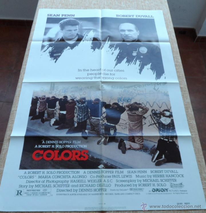 Cine: Colors (Colores) Póster original de la película, Doblado, 1988, Sean Penn, Robert Duvall - Foto 2 - 42275771