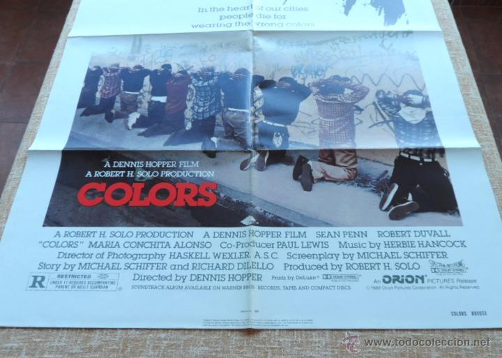 Cine: Colors (Colores) Póster original de la película, Doblado, 1988, Sean Penn, Robert Duvall - Foto 6 - 42275771
