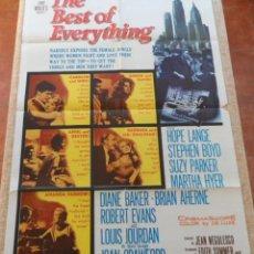 Cine: THE BEST OF EVERYTHING (LO MEJOR DE TODO) PÓSTER ORIGINAL DE LA PELÍCULA, DOBLADO, 1959, HOPE LANGE. Lote 42276421