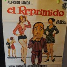 Cine: CARTEL DE CINE ORIGINAL DE LA PELÍCULA EL REPRIMIDO, ALFREDO LANDA, 70 POR 100CM. Lote 42286476