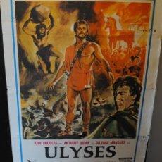 Cine: CARTEL DE CINE ORIGINAL DE LA PELÍCULA ULYSES, KIRK DOUGLAS, 70 POR 100CM. Lote 42286633