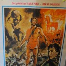 Cine: CARTEL DE CINE ORIGINAL DE LA PELÍCULA ULYSES DE CARLO PONTI, 70 POR 100CM. Lote 42305689
