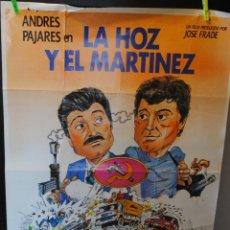 Cine: CARTEL DE CINE ORIGINAL DE LA PELÍCULA LA HOZ Y EL MARTÍNEZ, 70 POR 100CM. Lote 42305797