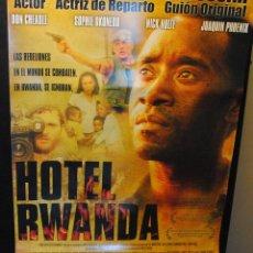 Cine: CARTEL DE CINE ORIGINAL DE LA PELÍCULA HOTEL RWANDA, 70 POR 100CM. Lote 42305940