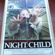 Cine: THE NIGHT CHILD (EL NIÑO DE LA NOCHE) PÓSTER ORIGINAL DE LA PELÍCULA, REPRODUCCIÓN DE 1975, DOBLADO. Lote 42310336