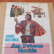 Cine: JUS PRIMAE NOCTIS PÓSTER ITALIANO ORIGINAL DE LA PELÍCULA, 1972, DOBLADO, LANDO BUZZANCA, RENZO M.. Lote 42319819