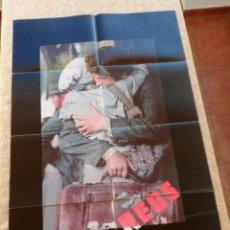 Cine: REDS (ROJOS) PÓSTER ORIGINAL DE LA PELÍCULA, 1981, DOBLADO, TEASER, PARAMOUNT PICTURES. Lote 42327200