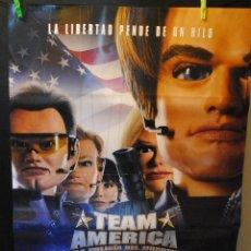Cine: CARTEL DE CINE ORIGINAL DE LA PELÍCULA TEAM AMERICA, 70 POR 100CM. Lote 67350601
