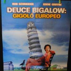Cine: CARTEL DE CINE ORIGINAL DE LA PELÍCULA GIGOLÓ EUROPEO, 70 POR 100CM. Lote 42327892