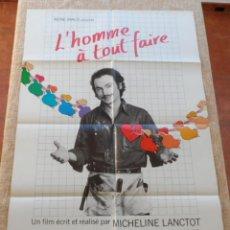 Cine: L´HOMME A TOUT FAIRE (ROUSTABOUT) PÓSTER ORIGINAL DE LA PELÍCULA, FRANCÉS, 1980, DOBLADO, RENE MALO. Lote 42327935