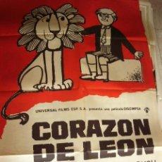 Cine: CARTEL DE CINE - MOVIE POSTER. CORAZON DE LEON. DIR. MICHAEL FORLONG. 1971. . Lote 42334501