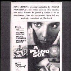 Cine: A PLENO SOL (1960) - ALAIN DELON, MAURICE RONET, MARIE LAFORET. Lote 35964509