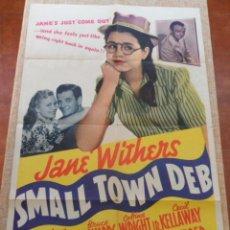 Cine: SMALL TOWN DEB PÓSTER ORIGINAL DE LA PELÍCULA, DOBLADO, 1941, JANE WITHERS, JANE DARWELL. Lote 42368458