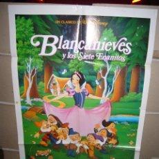 Cine: BLANCANIEVES Y LOS 7 ENANITOS WALT DISNEY POSTER ORIGINAL 70X100 Q POSIBILIDAD DE BLU RAY. Lote 42372941