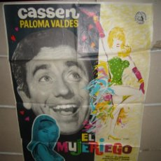 Cine: EL MUJERIEGO CASSEN PALOMA VALDES MAC POSTER ORIGINAL 70X100 YY(570). Lote 42415505