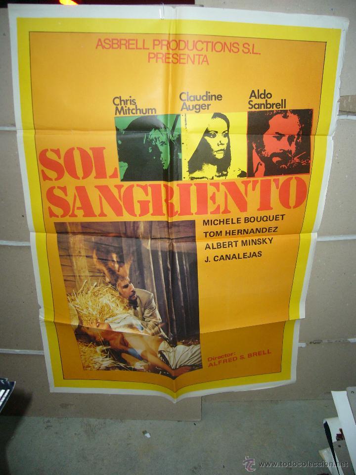 SOL SANGRIENTO CHRIS MITCHUM SANBRELL AUGER POSTER ORIGINAL 70X100 YY(572) (Cine - Posters y Carteles - Acción)