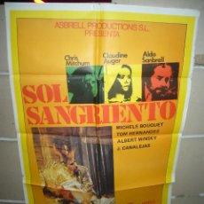 Cinéma: SOL SANGRIENTO CHRIS MITCHUM SANBRELL AUGER POSTER ORIGINAL 70X100 YY(572). Lote 42415598