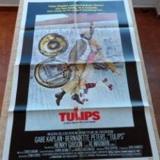 Cine: TULIPS (TULIPANES) PÓSTER ORIGINAL DE LA PELÍCULA, DOBLADO, 1981, GABE KAPLAN, HENRY GIBSON, U.S.A.. Lote 42462089