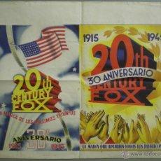 Cine: XH89D SOLIGO 30 ANIVERSARIO 20TH CENTURY FOX POSTER ORIGINAL 50X70 ESTRENO LITOGRAFIA. Lote 42481942