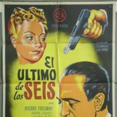 Cine: CCJ UM22 EL ULTIMO DE LOS SEIS PIERRE FRESNAY POSTER ORIGINAL 70X100 ESTRENO LITOGRAFIA RARO. Lote 42482235