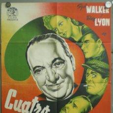 Cine: CCJ UL98D CUATRO CULPABLES SYD WALKER BEN LYON POSTER ORIGINAL 70X100 ESTRENO LITOGRAFIA RARO. Lote 42502576