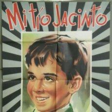 Cine: UM27 MI TIO JACINTO PABLITO CALVO LADISLAO VAJDA POSTER ORIGINAL ESTRENO 70X100. Lote 42505964
