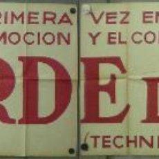 Cine: UM33 TARDE DE TOROS ANTONIO BIENVENIDA DOMINGO ORTEGA ENRIQUE VERA POSTER ORIGINAL ESTRENO 64X352. Lote 42514118