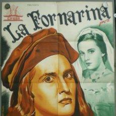 Cine: UM34 LA FORNARINA LIDA BAAROVA MASSIMO SERATO CIFESA POSTER ORIGINAL ESTRENO 70X100 LITOGRAFIA. Lote 42514162