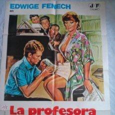 Cine: PÓSTER ORIGINAL LA PROFESORA ENSEÑA EN CASA. Lote 42530775
