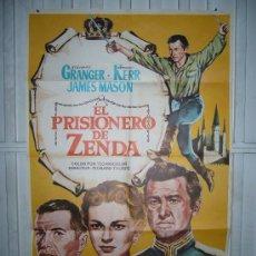Cine: EL PRISIONERO DE ZENDA STEWART GRANGER POSTER ORIGINAL 70 X100 YY (597). Lote 42542034