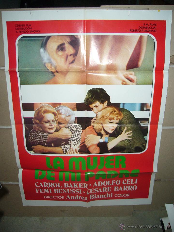LA MUJER DE MI PADRE ADOLFO CELI CARROLL BAKER POSTER ORIGINAL 70X100 YY (615) (Cine- Posters y Carteles - Drama)