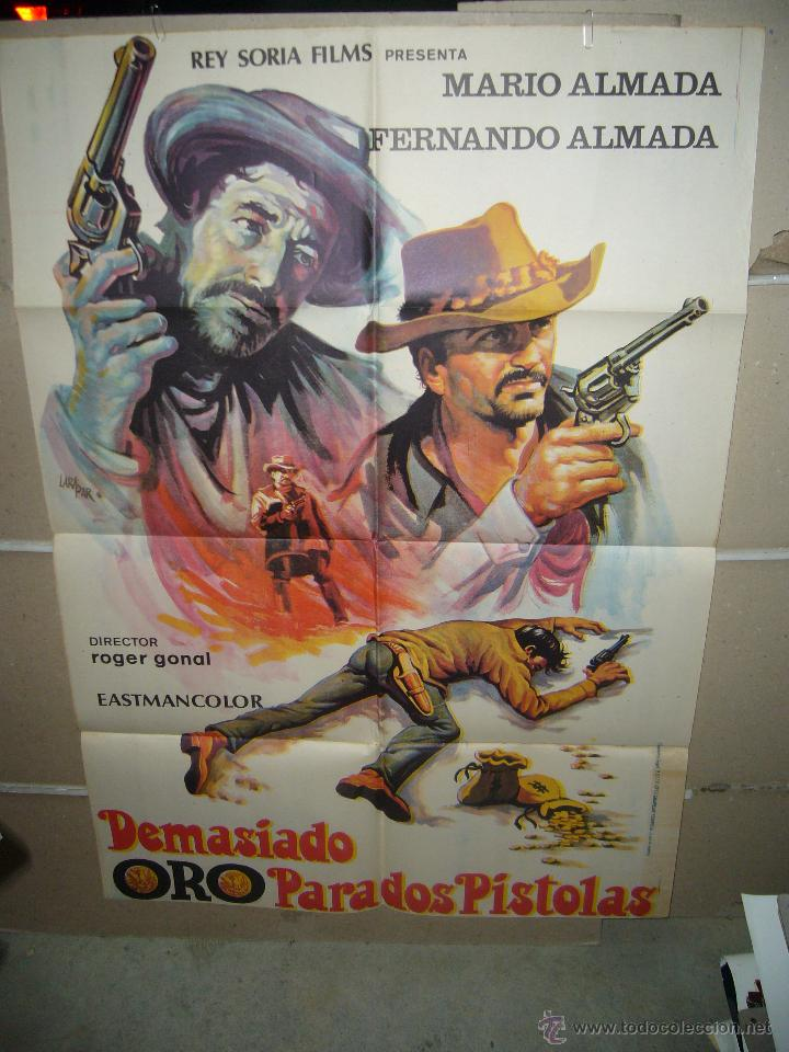 DEMASIADO ORO PARA DOS PISTOLAS MARIO FERNANDO ALMADA SPAGHETTI POSTER ORIGINAL 70X100 YY (623) (Cine - Posters y Carteles - Westerns)