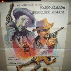Cine: DEMASIADO ORO PARA DOS PISTOLAS MARIO FERNANDO ALMADA SPAGHETTI POSTER ORIGINAL 70X100 YY (623). Lote 42553287