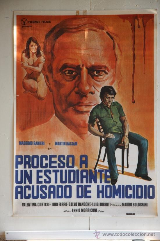 PROCESO A UN ESTUDIANTE ACUSADO DE HOMICIDIO. (Cine - Posters y Carteles - Clasico Español)