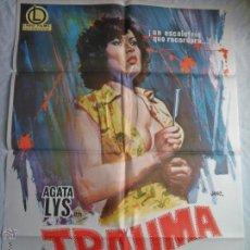 Cine: PÓSTER ORIGINAL TRAUMA (1977). Lote 42594647