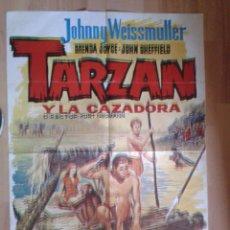 Cine: TARZAN Y LA CAZADORA POSTER DESCUADRADO DESPLAZADO(ES COMO 3D). Lote 42615188