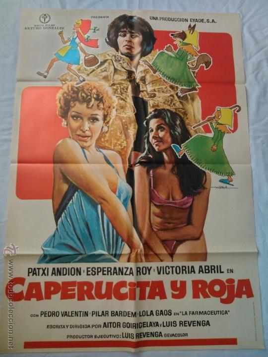PÓSTER ORIGINAL CAPERUCITA Y ROJA 1976 (Cine - Posters y Carteles - Clasico Español)